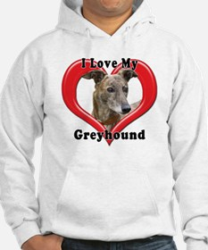 I love my Greyhound logo Hoodie