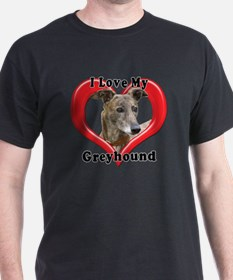 I love my Greyhound logo T-Shirt