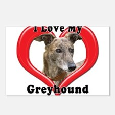 I love my Greyhound logo Postcards (Package of 8)