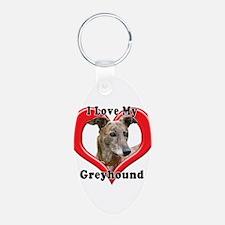 I love my Greyhound logo Keychains