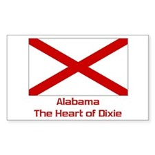 Alabama State Flag Rectangle Decal