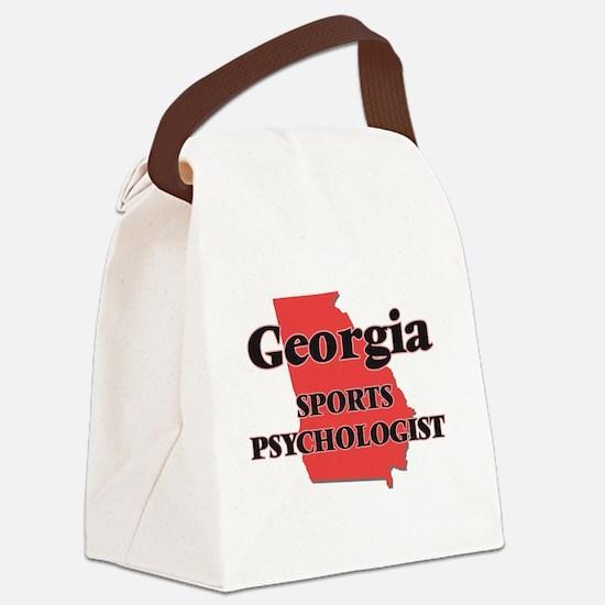 Georgia Sports Psychologist Canvas Lunch Bag