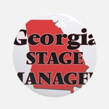 Georgia Stage Manager Round Ornament