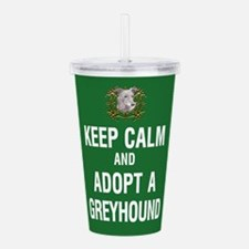 Keep Calm and Adopt a Acrylic Double-wall Tumbler