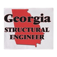 Georgia Structural Engineer Throw Blanket
