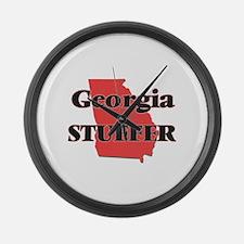 Georgia Stuffer Large Wall Clock