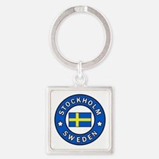 Stockholm Square Keychain