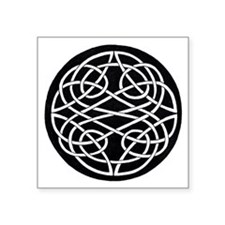 "Cute Irish knotwork Square Sticker 3"" x 3"""
