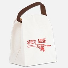She's Mine Canvas Lunch Bag
