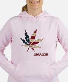 Marijuana Leaf Women's Hooded Sweatshirt