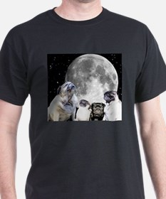 Four Pug Moon Men's T-Shirt