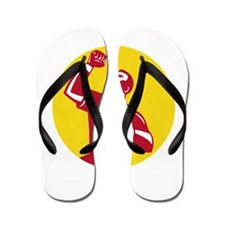 Athlete Fist Pump Circle Retro Flip Flops
