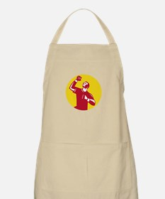 Athlete Fist Pump Circle Retro Apron