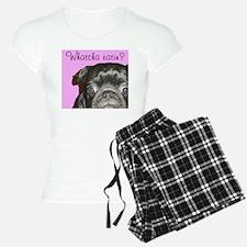 Whatcha Eatin? Black Pug Women's Light Pajamas