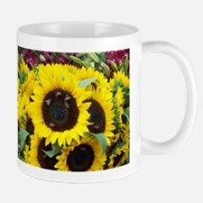 Bee Dance On A Sunflower Day Ceramic Mugs
