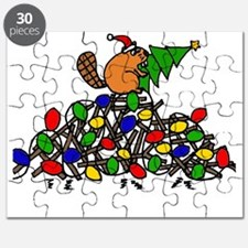 Funny Christmas Beaver Puzzle