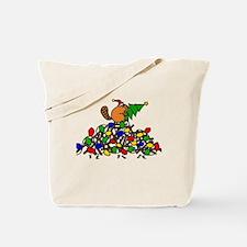 Funny Christmas Beaver Tote Bag