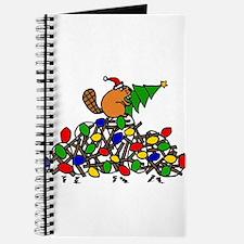 Funny Christmas Beaver Journal