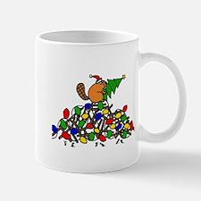 Funny Christmas Beaver Mugs