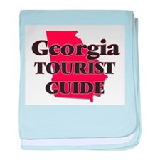 Georgia Tourist Guide baby blanket