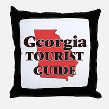 Georgia Tourist Guide Throw Pillow