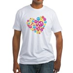 Love & Peace in Heart Fitted T-Shirt