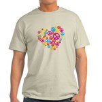 Love & Peace in Heart Light T-Shirt