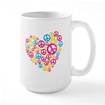 Love & Peace in Heart Large Mug