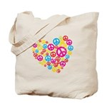 Love & Peace in Heart Tote Bag