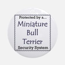 Mini Bull Security Ornament (Round)