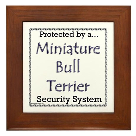 Mini Bull Security Framed Tile