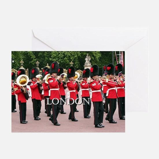 Guards Band, London (caption) Greeting Card
