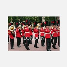 Guards Band, London (caption) Rectangle Magnet