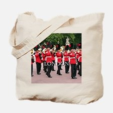 Guards Band, London (caption) Tote Bag