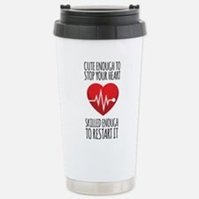 Stop Heart Stainless Steel Travel Mug