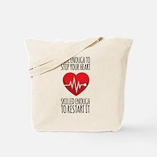 Stop Heart Tote Bag
