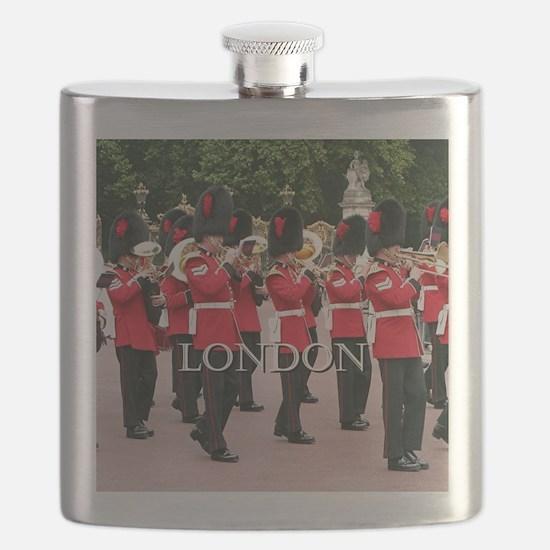 Guards Band, London (caption) Flask