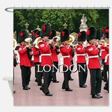 Guards Band, London (caption) Shower Curtain