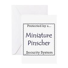 Min Pin Security Greeting Card