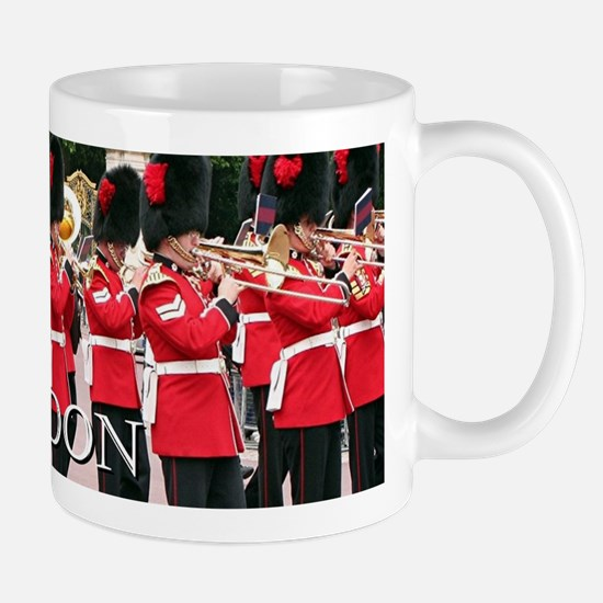 Guards Band, London (caption) Mugs