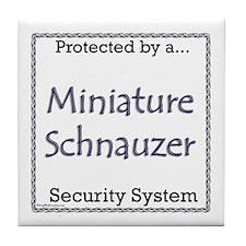 Mini Schnauzer Security Tile Coaster