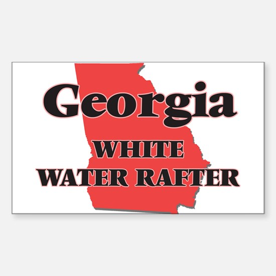 Georgia White Water Rafter Decal