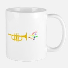 trumpet Playing Colorful Vibrant Music Mugs