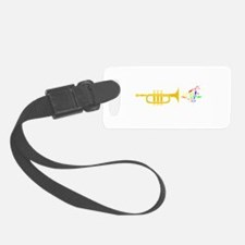 trumpet Playing Colorful Vibrant Luggage Tag