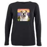 Bulldog Meadow Plus Size Long Sleeve Tee