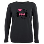 dogboneILOVEMY.png Plus Size Long Sleeve Tee