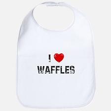 I * Waffles Bib