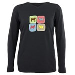 colorblock.png Plus Size Long Sleeve Tee
