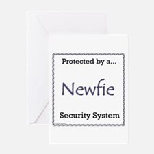 Newfie Security Greeting Card