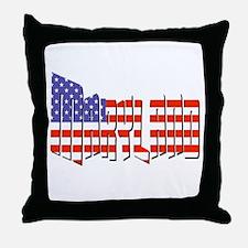 Patriotic Maryland Throw Pillow
